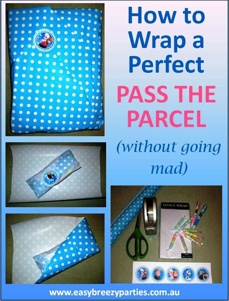How to wrap a Pass The Parcel for a kids party - neatly and easily, and to suit any theme. http://easybreezyparties.com.au/party-inspiration-and-ideas/item/63-how-to-wrap-a-perfect-pass-the-parcel.html #kidsparty #easybreezyparties