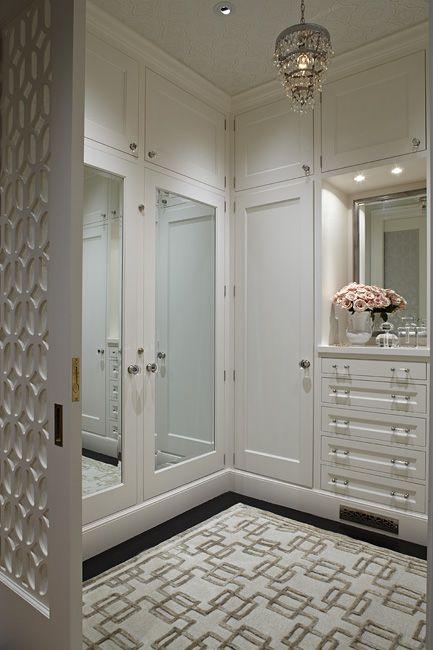 * Closet   Pocket Door  _ Love that there are doors on the closets in the dressing room.
