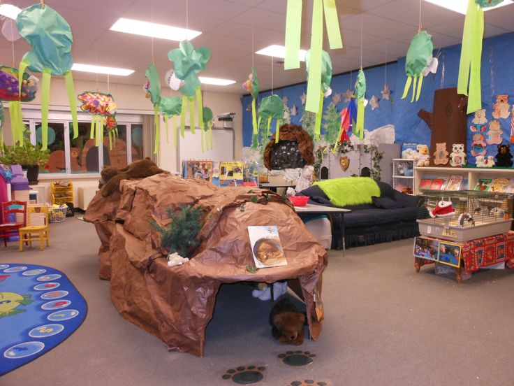 Classroom Bear Cave The Day Before Our Quot Hibernation Wake Up Quot Party Kindergarten Science