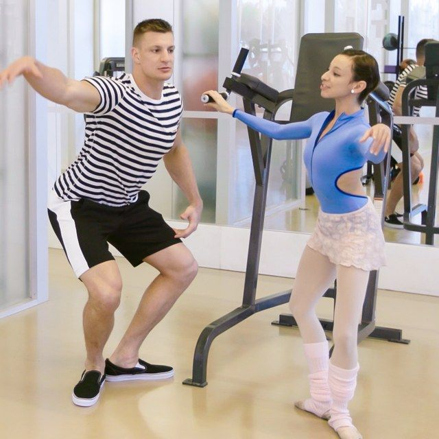 Watch Rob Gronkowski Take Ballet Lessons from a Real-Life Ballerina | GQ