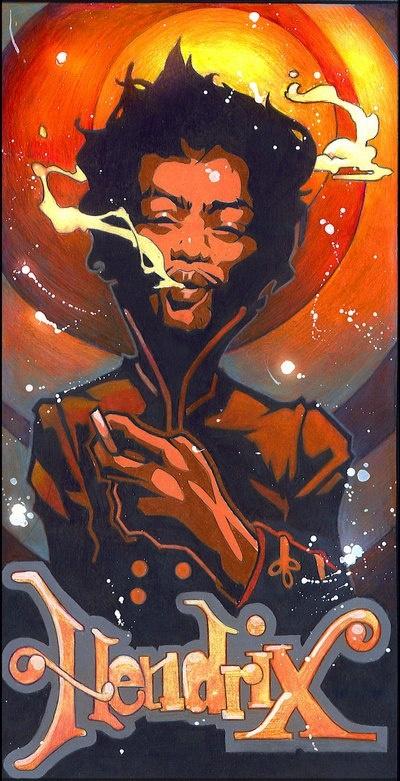 Hendrix by Tim Shumate Illustrations