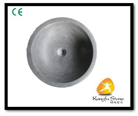 This round stone sink is made by bluestone  limestone ,the limestone sink in honed surface
