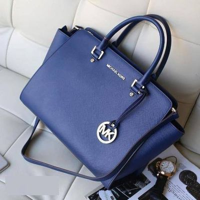 #MKTimeless #GameDay Michael Kors Selma Top-Zip Large Navy Satchels Can Be The Best Seller You Have Ever Seen!