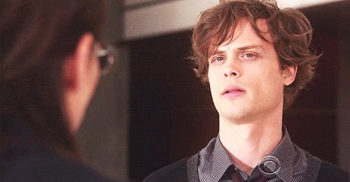 "And when he licks his lips it looks like this. | 24 Reasons To Love Dr. Spencer Reid From ""Criminal Minds"""