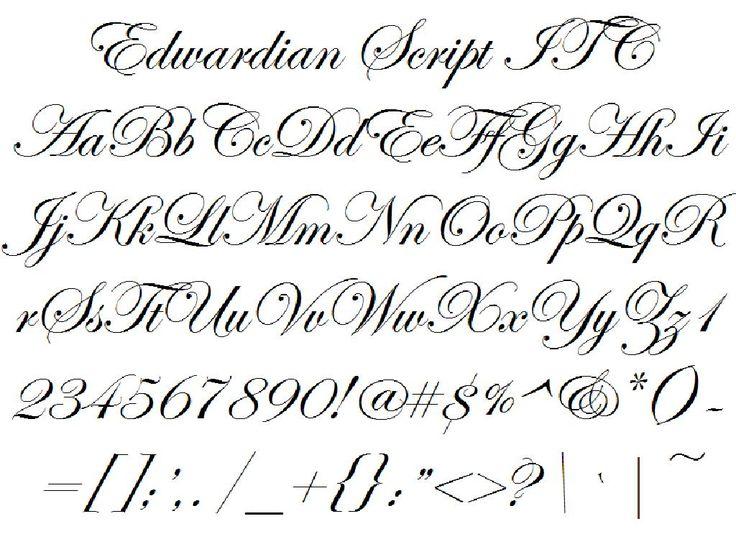 Edwardian Script ITC | Fantasie | Pinterest | Stenciling