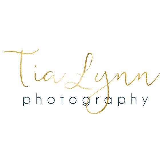 Gepersonaliseerde fotografie Logo premade / / fotograaf / sieraden / bruiloft Logo / / Tia Lynn / / aquarel