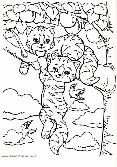 lisa frank coloring pages cats - photo#4