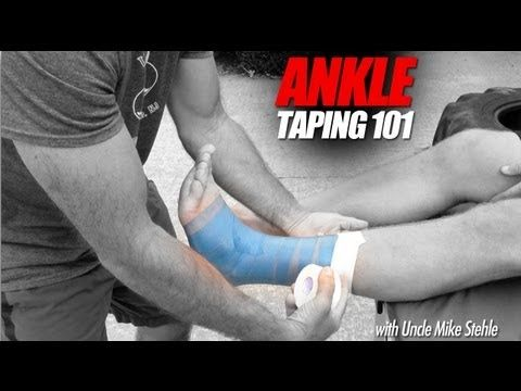 How to Tape Ankles for Athletes - Best Ankle Taping Video - Mike Stehle