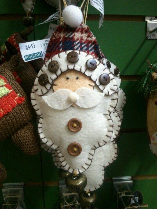 Felt Santa decoration