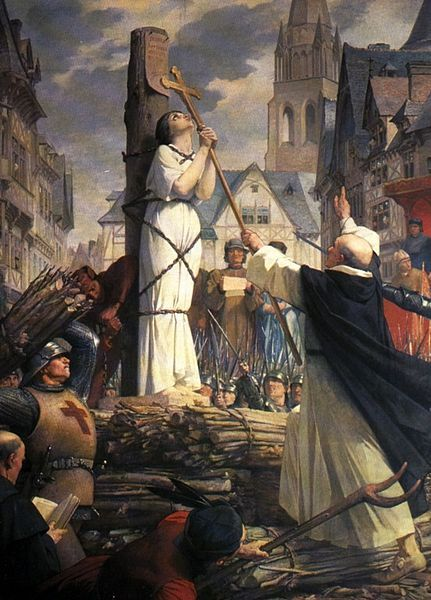 Jules E. Lenepveu (1819-1898) -  Jeanne d'Arc sur le Bûcher à Rouen (Jeane D'Arc at the Stake in Rouen). Circa 1886-1890.: