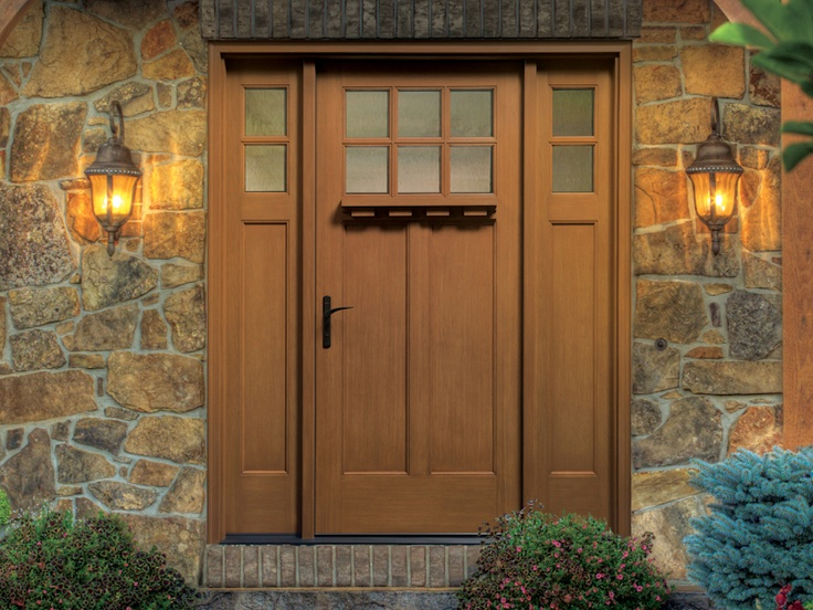 Thermatru classic craft american style fiberglass entry for Fiberglass entry doors with sidelights