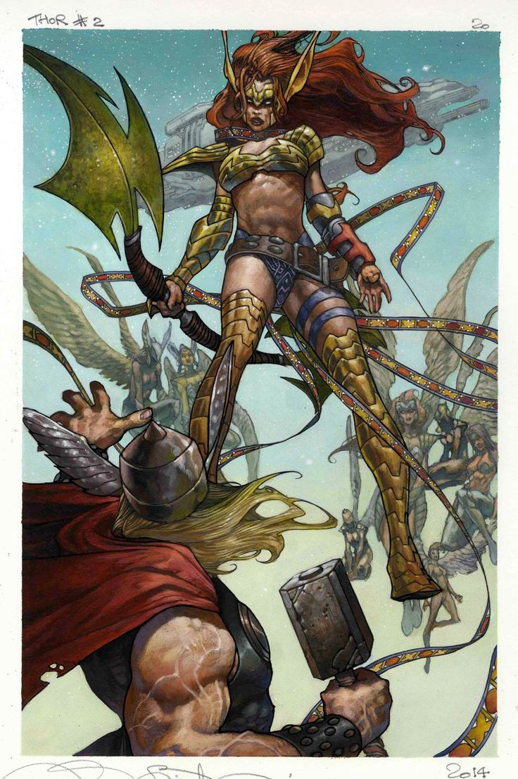 ORIGINAL SIN: THOR (Vs Angela!) Artwork