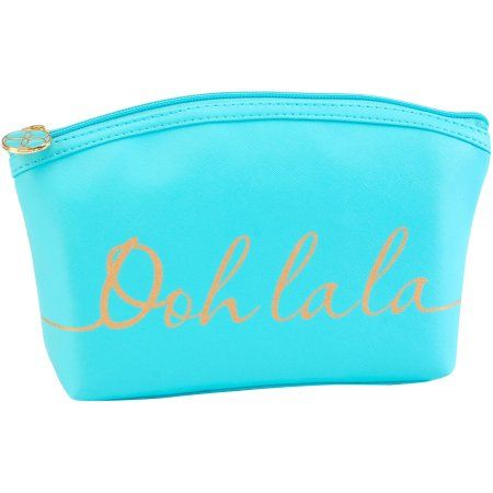 Candie Couture Domed Ooh La La Cosmetic Pouch, Blue