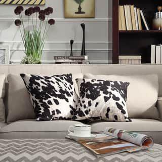 Reclining Sofa Cow Hide Cowhide Pillows Accent Pillows Black Throw Pillows Black Throws Accent Chairs Pillow Set The Pillow Pillow Talk