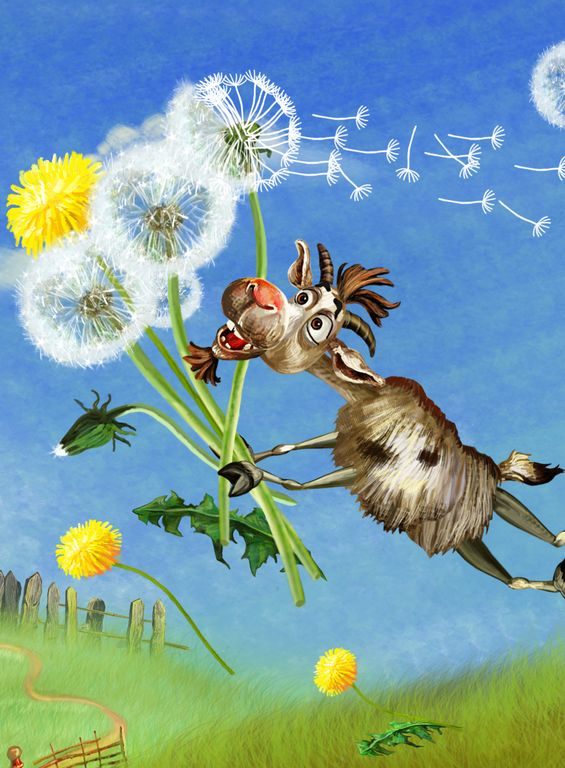 Billy Goat is dreaming. #Three #Billy #Goats #Gruff #PonyApps #Fairytale  http://www.amazon.com/Three-Billy-Goats-Gruff-Read/dp/B00YBCVINQ/ref=sr_1_2?s=mobile-apps&ie=UTF8&qid=1435421773&sr=1-2