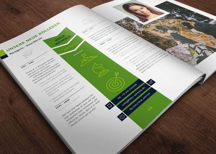 18 best design vorlagen fr zeitungen magazine und kataloge images vorlage fr mitarbeitermagazin im hochformat din a4 ccuart Choice Image