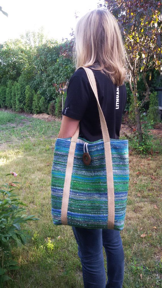 saori bag handwoven unique large tote bag beach bag easter day gift woven fashion ooak - Large Tote Bags