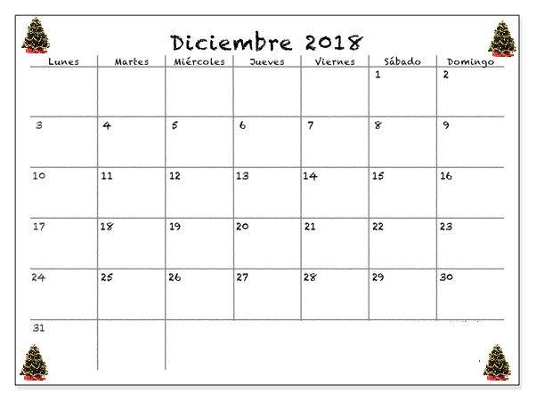 Calendario Diciembre 2018 Chile.Calendario Mes De Diciembre 2018 Calendario Mes De
