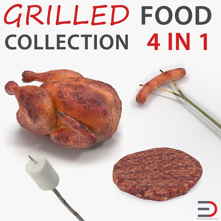 Grilled and Camping Food Collection 3D