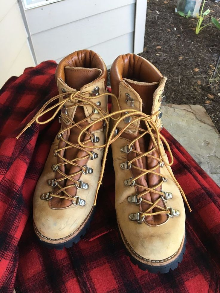 Vintage Leather Hiking Boots Mountain Outdoor Lumberjack Boots #Unisex #hikingboots #wild #bootsaremadeforwalking #lumberjack #rugged #vintage