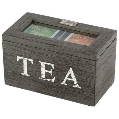 Thee doos Altavilla 2 vaks grijs + zwarte finish. Collectione / Casa-Bella #Accessoires #Opbergen #Doosje #Box #Theedoos #Tea