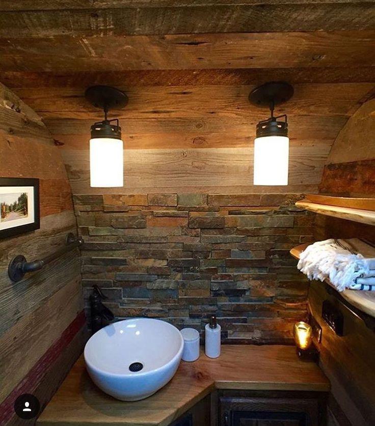 Airstream bathroom | Van-Life | Pinterest | Airstream ...