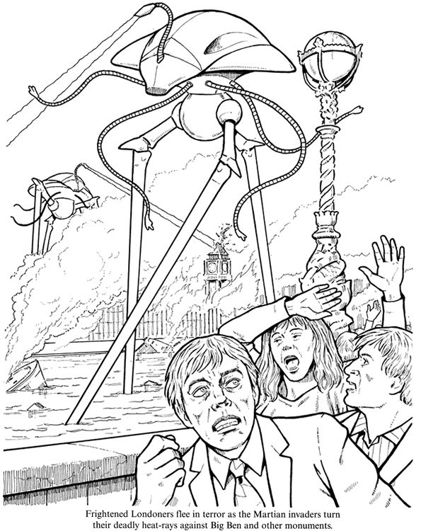 The War Of Worlds Coloring Book Dover Publications