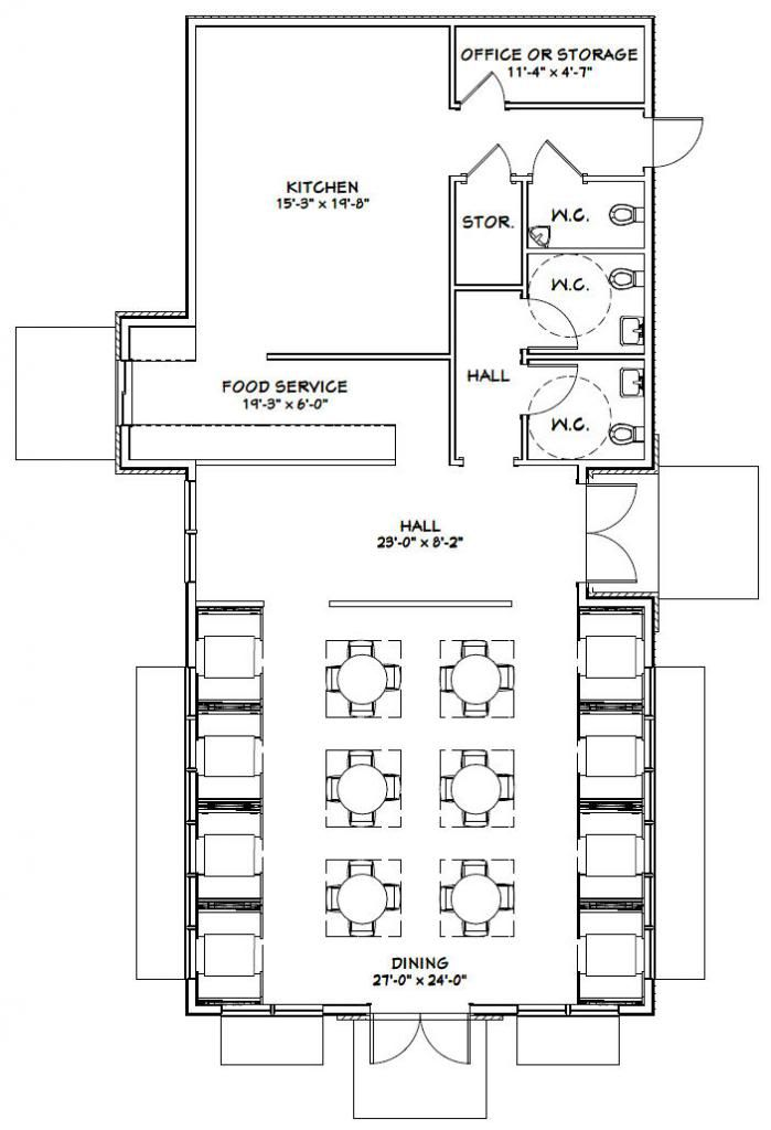 Restaurant floor plan pdf gurus floor for Garage floor plan software