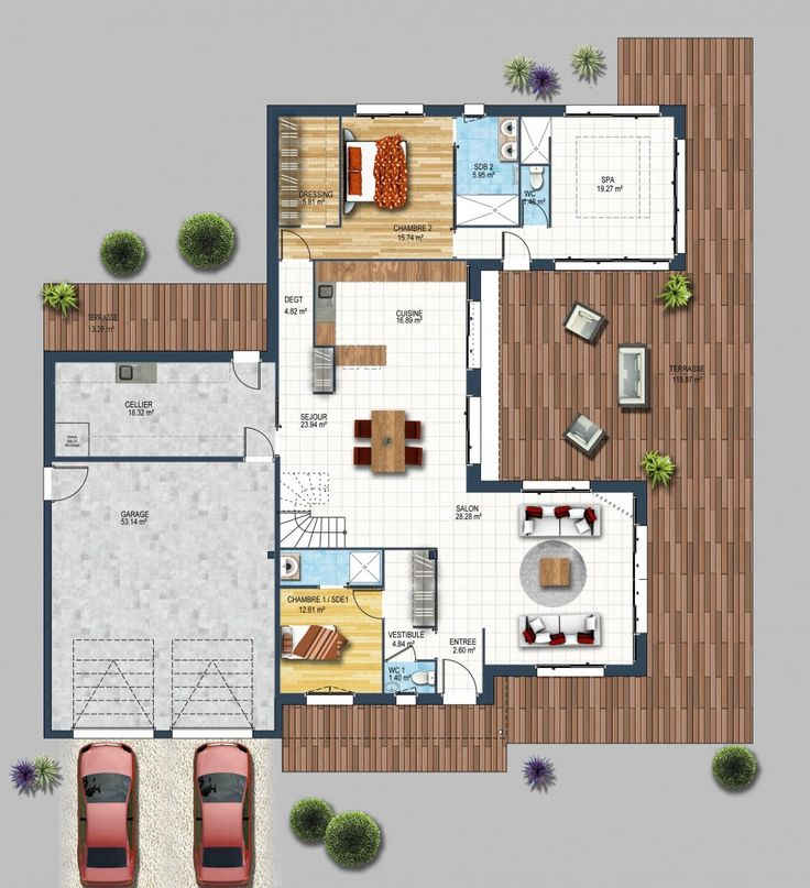 767 best maison images on pinterest house design blueprints for homes and architecture. Black Bedroom Furniture Sets. Home Design Ideas