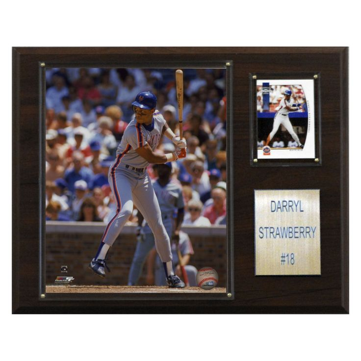 MLB 12 x 15 in. Darryl Strawberry New York Mets Player Plaque - 1215STRAW