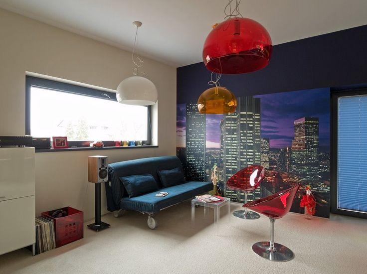 Barevná místnost pro teenagery - Architektura, interiéry, technologie, design - HomeSquare