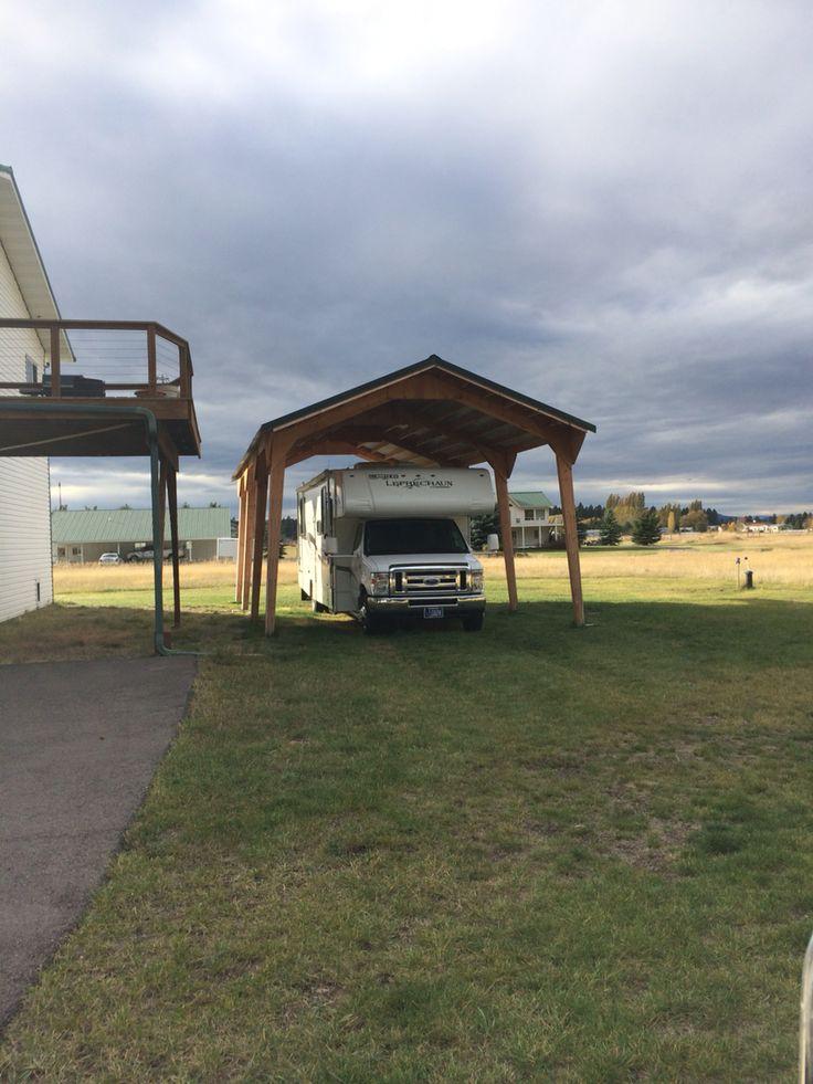 Wooden Rv Shelters : Best car shelters images on pinterest carport garage