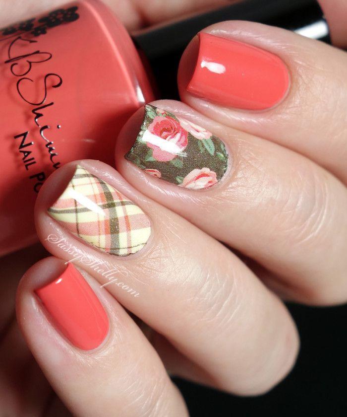 Easy Nail Art with KBShimmer Water Decals | Sassy Shelly     #nails #nailart