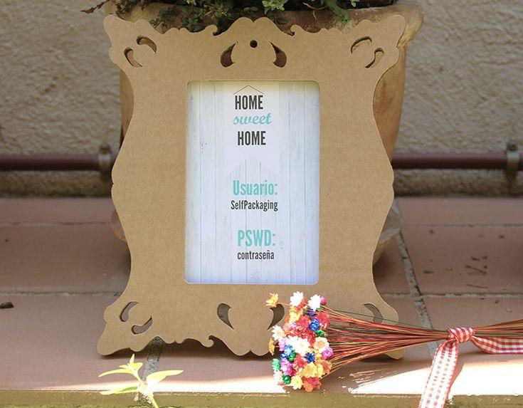DIY cartel con contraseña de WiFi - Selfpackaging Blog