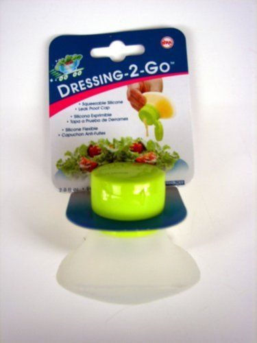 Single serve salad dressing container