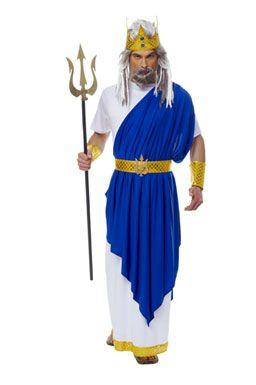 Blue Neptune Greek God Costume