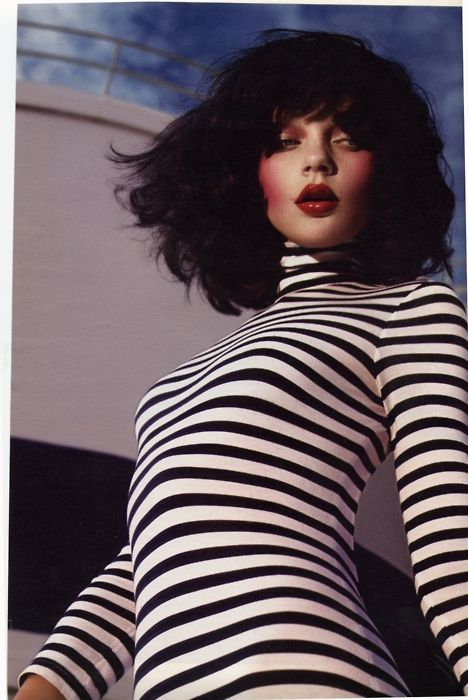 "W March 2005 by Mert Alas & Marcus Piggott withJessica Stam ""Industrial Strength""."