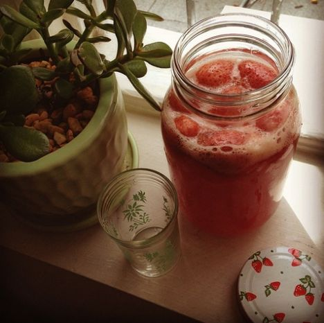 Strawberry Shortcake Kombucha, recipe below