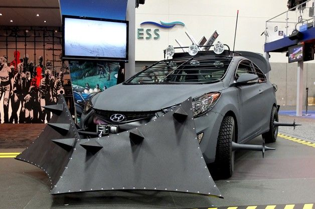 Hyundai Elantra Coupe Zombie Survival Machine makes Comic-Con debut...Never wanted a Hyundai until now LOL