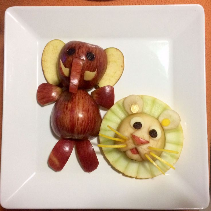 Food art: elefante e leão