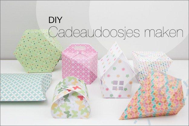 DIY Zelf cadeaudoosjes maken met gratis patronen. Speciaal voor giftwrapping.