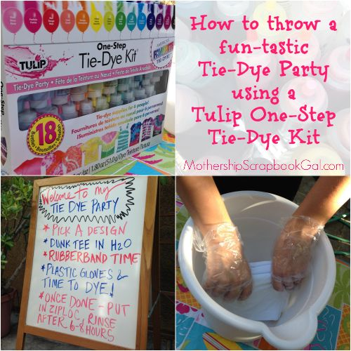 iLoveToCreate Blog: How to throw a fun-tastic Tie Dye Party!