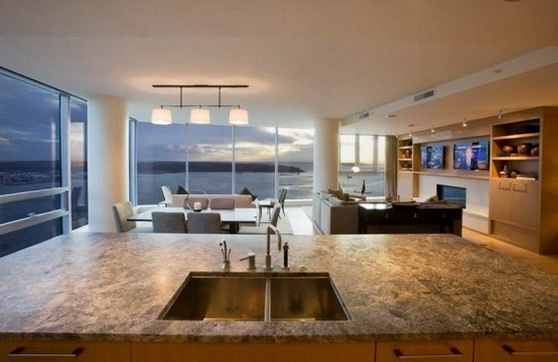 another great view: Dreamy Spaces, Beautiful Kitchens, Seattle Penthouses, Beautiful View, Future House, Great View, Spaces Design, Architecture Design, Amazing House