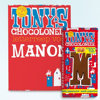 Een originele lekkernij deze Tony's Chocolonely letterreep!