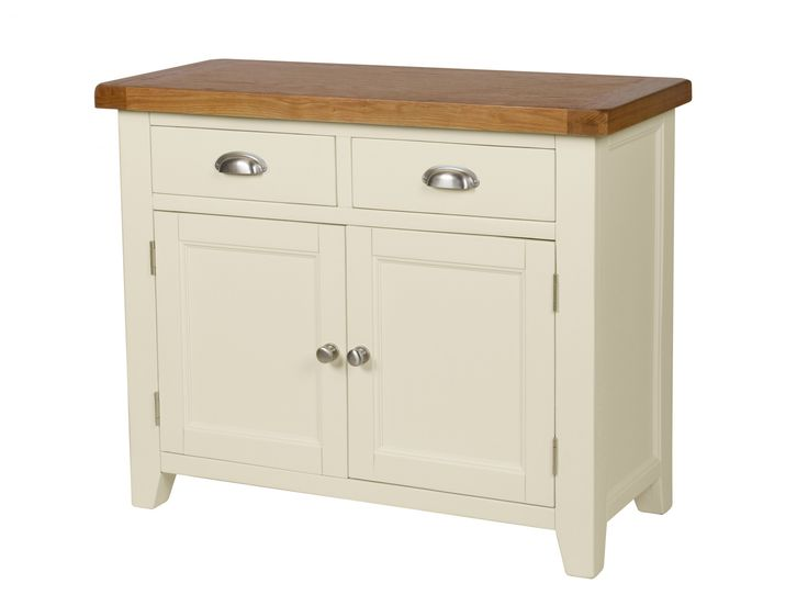 The stunning cream painted Country Cottage 100cm Sideboard.This sideboard is an excellent addition to our Country Oak Painted Range which we offer many different products in such as dining tables, bar stools and sideboards. The Country Oak cream painted 100cm sideboard is manufactured with an American Oak top which is sourced from sustainable forests. The oak is then beautifully finished with an oiled wax which brings out the natural beauty and characteristics of the oak. This sideboard is…