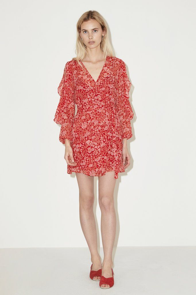 The Fifth Label - Brushstrokes Mini Dress - Red Floral Dream