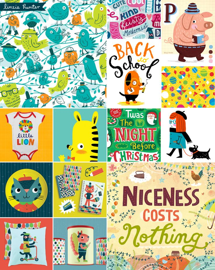 Art Licensing, Illustration, Lettering, Design, Pattern by Linzie Hunter