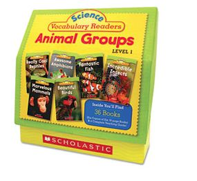 Terrific little readers - include glossary of vocabulary words, full-color photo illustrations and lots of animal facts.  Have students read and create word walls by creating animal group labels then have students create vocabulary word cards they can then place beneath each animal group.  Kids can then create a bank of descriptive words - for example, what is another word for large (huge), fast (speedy), etc.