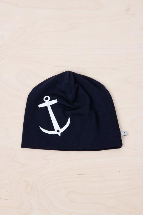 EM Anchor Beanie Navy - emma och malena