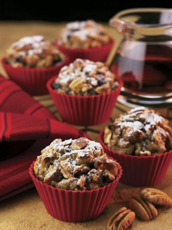 Recipe for Marbled French Toast Muffins with Georgia Pecans and Apple Butter